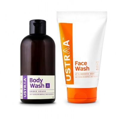 Face Wash - Badass Sexy & Body Wash - Smoke House