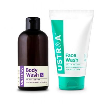 Face Wash - Brain Freeze & Body Wash - Smoke House