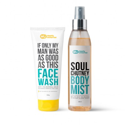 Face Wash - Dry to Normal Skin & Body Mist - Soul Chutney