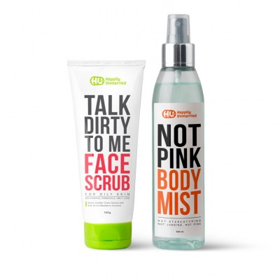 Face Scrub - Oily Skin & Body Mist - Not Pink