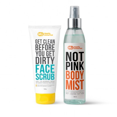 Face Scrub - Dry to Normal Skin & Body Mist - Not Pink