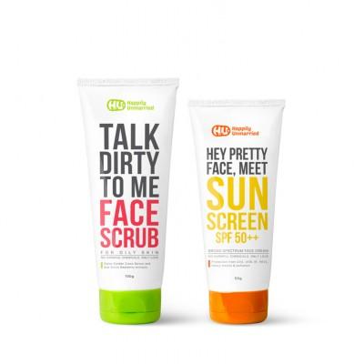 Face Scrub - Oily Skin & Sunscreen